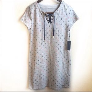 Tommy Hilfiger gray anchor graphic casual dress